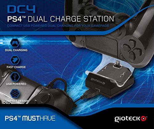 Gioteck - Estacion de carga DC4 Para 2 mandos PS4 (PS4)