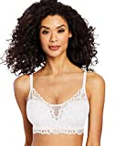 Bali Women's Lace Desire All Over Lace Wirefree Bra, White, Medium