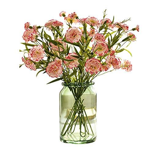 Künstliche Nelken aus Seide, 6 Köpfe, für Hochzeitssträngliche, Grab, Zuhause, Garten, Dekoration, Blumenarrangements,