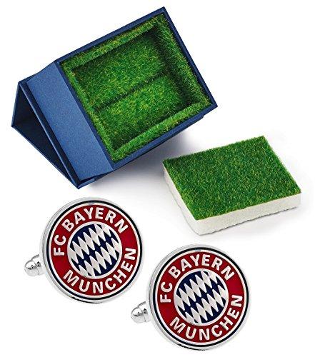 Puentes Denver FC Deutschland Fußballclub Manschettenknöpfe + Geschenk-Box