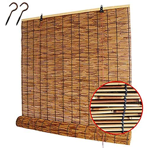 Persianas De Caña,Estores De Bambú De Madera,Estores Enrollables Romanas,Ecological Sunshade Partition Curtain,Transpirable/Anti-UV, Para Jardín, Patio, Balcón,Tamaño Personalizable(100x150cm/39x59)
