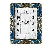 Cylficl 韓国の創造的な無声着席時計、現代のミニマリストの寝室の時計