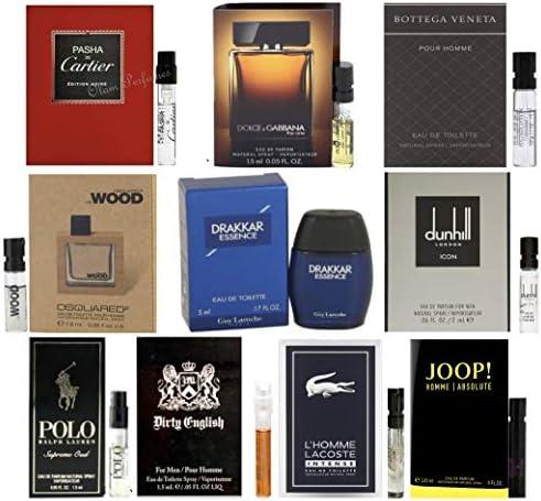 Men s Cologne Collection Men s Designer Fragrance Sample Pack 1 mini Drakkar Essence 9 Different product image