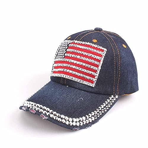 LLSB Gorra De Béisbol para Mujer para Hombres, Mujeres, Gorra Snapback, Gorras De Bandera Americana del Ejército para Hombres, Gorras De Camionero De Hueso, Gorras Darkdenim