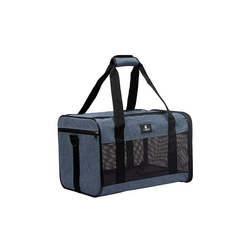 dog supplies online x-zone pet airline approved soft-sided pet travel carrier for dogs and cats, medium cats small cats carrier,dog carrier for small dogs, portable pet travel carrier (medium, blue)