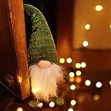 Airlab Ostern Weihnachten Deko Wichtel 49 cm Hoch, Schwedischen Weihnachtsmann Santa Tomte Gnom, Festliche Verpackung, Skandinavischer Zwerg Geschenke für Kinder Familie Ostern Weihnachten, Grün - 5