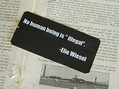 Quote Bookmark No Human Being is 'Illegal' bookmark metal bookmark