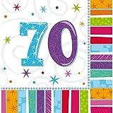 NET TOYS 16 tovaglioli Compleanno | Salvietta di Carta 70...
