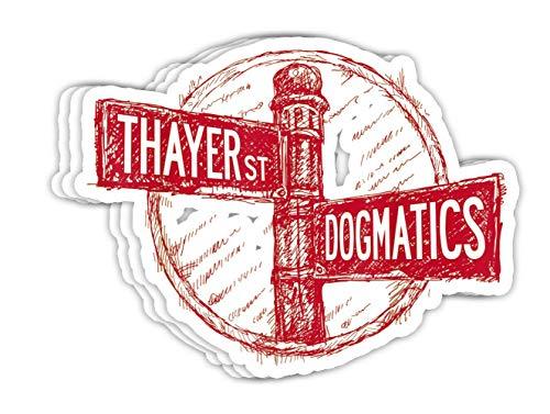 DKISEE Calcomanías de vinilo para portátil Dogmatics Thayer St. – 10,16 cm, adhesivo para botella de agua (juego de 3)