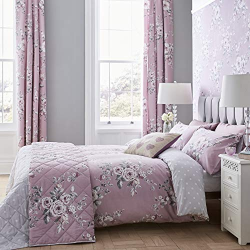 Catherine Lansfield Canterbury Easy Care King Duvet Set Heather