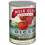 Muir Glen, Organic Diced Tomatoes With Garlic and Onion, 14.5 oz (Pack of 12)