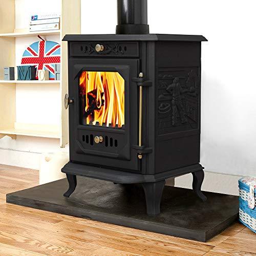 Lincsfire Waddington JA001 7.5KW Multifuel Woodburning Stove Wood Burner Log Burning Fire Fireplace Cast Iron Woodburner
