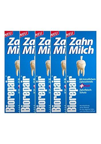 5x BIOREPAIR Zahn-Milch 500ml PZN: 12387056 Ohne Alkohol NEU Zahnfleisch-Schutz