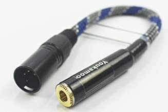 6.35mm to 4-pin XLR Balanced Headphone Audio Headphone Adapter Cable Female to Male 20CM