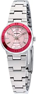 Enticer Quartz Movement Pink Dial Ladies Watch LTP-1368D-4ADF