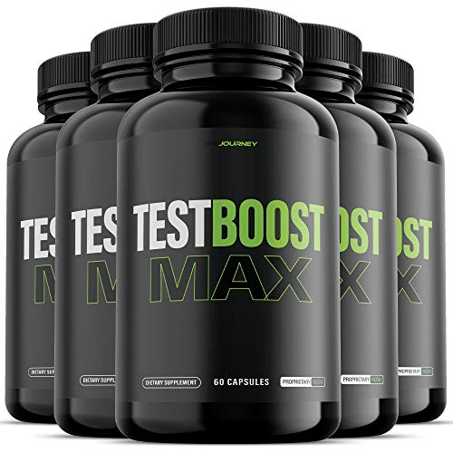 (5 Pack) Test Boost Max for Men Supplement (300 Capsules)