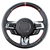 Kivnto DIY Steering Wheel Cover Custom Fit for Ford Mustang 2015...