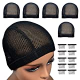 Highshion 5pcs Spandex Mesh Dome Wig Cap For Making wig, Comfortable, Stretchable,Breathable And Elastic Dome Mesh Cap big holes, Dome caps for men women (1)