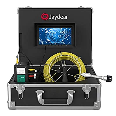 "Sewer Camera,Pipe Inspection Camera 165ft/50M Drain Snake Camera Plumbing Video System 7"" LCD Monitor 1000TVL Sony CCD IP68 Waterproof Pipe Camera DVR Recording Home & Industrial Endoscope Camera"