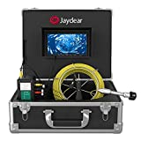 Sewer Camera,Pipe Inspection Camera 165ft/50M Drain Snake Camera Plumbing Video System 7' LCD Monitor 1000TVL Sony CCD IP68 Waterproof Pipe Camera DVR Recording Home & Industrial Endoscope Camera