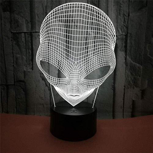 3D LED Nachtlampje Grote Ogen Alien Action Figuur 7 Kleur Touch Optische Illusie USB Bureau Lamp Kinderdecoratie Gift