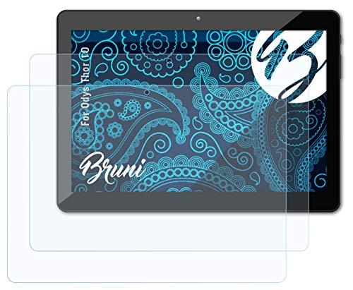 Bruni Schutzfolie kompatibel mit Odys Thor 10 Folie, glasklare Bildschirmschutzfolie (2X)