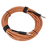 Suministros de instrumentos musicales Práctico cable de bajo de 32 pies Conveniente universal para(Red and yellow)