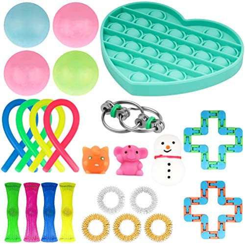 CNMF Bundle Sensory Fidget Toys Set 24 Pcs Stress Relief Fidget Hand Toys for Kids and Adults product image