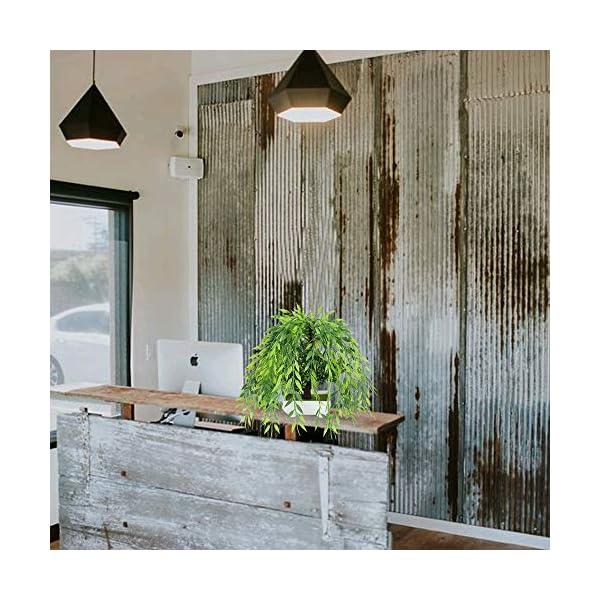 HUAESIN Planta Artificial Decorativa 30 x 25cm Plantas Plastico Decoracion Flores de Simulación Bonsai Verde para Hogar…