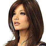 LCSD Peluca de pelo largo recto peluca en Europa y América tallada larga peluca de pelo recto peluca set de tinción