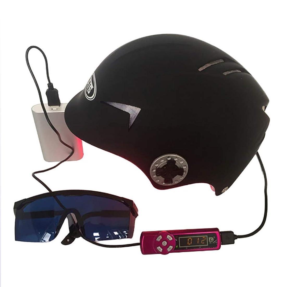 冒険者オートマトン姿勢育毛ヘルメット急成長脱毛ソリューション男性と女性のダイオード治療ヘア帽子,64