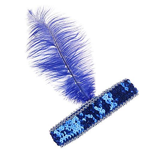 OSYARD Damen Mädchen Stirnband Kopfband Headband, Frauen 1920s Stirnband Gatsby Kostüm Accessoires 20er Jahre Flapper Feder Haarband Pailletten Stirnbänder Kopfband Headbandfür Verein Party