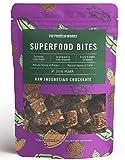 THE PROTEIN WORKS Superfood Bites | 100% Vegan | Natürlicher & Gesunder Snack | Pflanzlich | Roher indonesischer Kakao | 140g