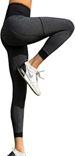 LaSculpte Womens Shapewear Yoga Pants High Waist Sports Tights Tummy Control Gym Fitness Workout Running Leggings with Pocket, 8-20