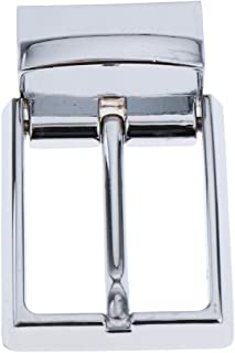 Baoblaze Alloy Reversible Belt Buckle Replacement - Single Prong Rectangular Pin Belt Buckle - Fit for 33mm/1.3 inch Strap