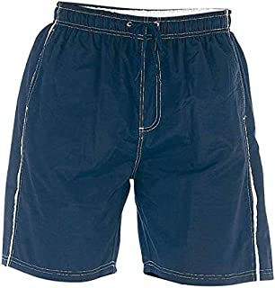 D555 by Duke Kingsize Big Mens Swim Shorts, Full Length Nylon, Elasticated Waist, Navy (2XL-6XL)