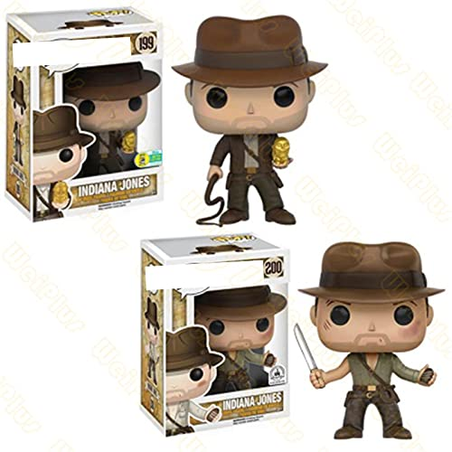 Serie De Películas Pop Raiders of The Lost Ark Indiana Jones # 199 # 200 Figura De Acción De Vinilo Juguetes De Modelos Coleccionables Amigos Regalo De Cumpleaños 10Cm