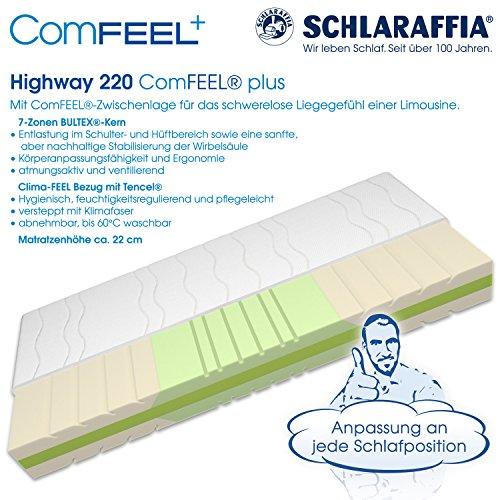 Schlaraffia Highway 220 ComFEEL 7-Zonen Kaltschaum-Matratze H2 (90 x 200cm)