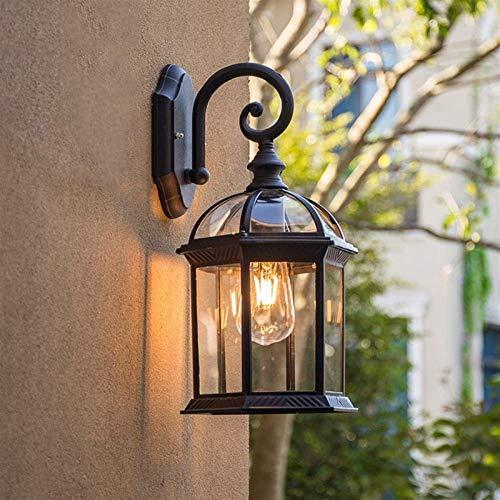 Lámpara de Pared Para Exteriores Retro Impermeable Al Aire Libre Rust Lámpara De Pared De Balcón Terraza Al Frente De La Puerta Del Jardín Exterior Pasillo Villa Lámpara De Pared De La Escalera