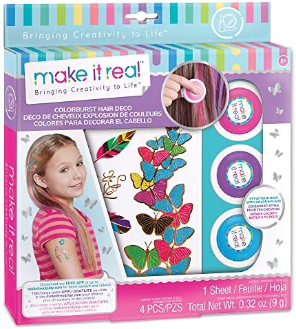 Make It Real Color Burst Hair Deco Set Temporary Hair Chalk for Girls Washable Hair Dye and product image
