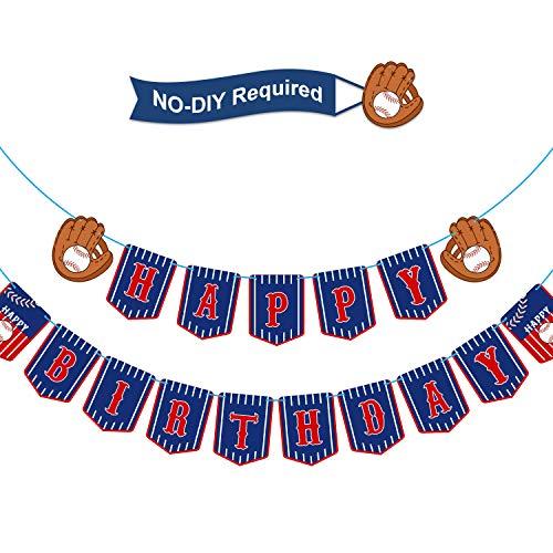 Baseball Thema Geburtstag Banner Baseball Happy Birthday Bunting Banner Sport Thema Geburtstag Party Dekorationen für Feier