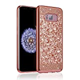 ZCDAYE Case for Samsung Galaxy S6,Bling Glitter [Crystal Rhinestone Diamond] Soft TPU Rubber Silicone [Electroplating Edge] Shockproof Cover for Samsung Galaxy S6 - Rose Gold