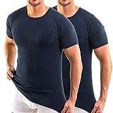 HERMKO 3840 2er Pack Kurzarm Shirt (Weitere Farben), Farbe:Marine, Größe:D 7 = EU XL