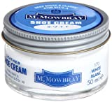 [M.モゥブレィ] シューケア 靴磨き 栄養 保革 補色 ツヤ出しクリーム シュークリームジャー ホワイト 50ml