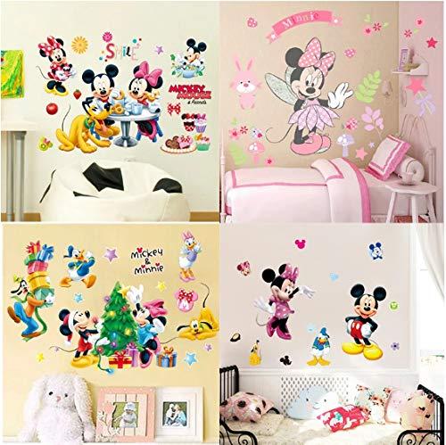 Dibujos Animados Mickey Minnie Princesa Medida De Altura Pegatinas De Pared Calcomanías Para Niños Tabla De Crecimiento Cartel De Arte De Pared Mural Pegatinas De Puerta