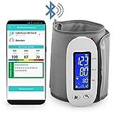 MedX5 (Upgrade 2019) tensiomètre sans fil Bluetooth pour le haut du bras avec application gratuite pour iOS & Android, FONCTION D'EXPORTATION des valeurs mesurées !