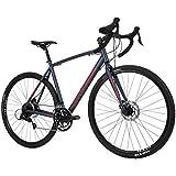 Royce Union Men's Gravel Bike Aluminum, 18 Speed, 700c Tires, Matte Denim Blue, RGF