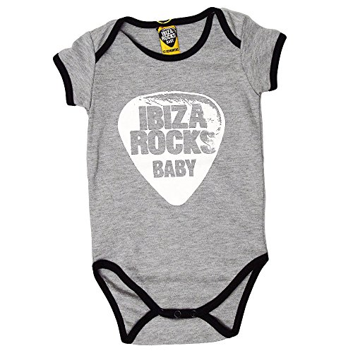 Ibiza Rocks Grenouillère Bébé Plectre 2017 - Gris Chiné, 12-18 mois
