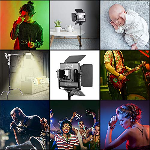 GVM RGB LED Video Lighting Kit, 800D Studio Video Lights with APP Control, Video Lighting Kit for YouTube Photography Lighting, 3 Packs Led Light Panel, 3200K-5600K, 8 Kinds of The Scene Lights
