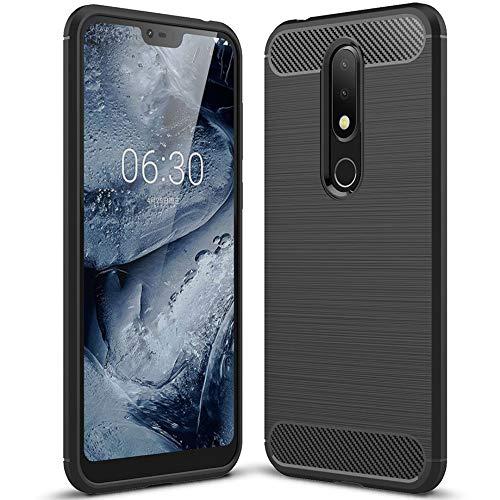 United Case Schutz-Hülle für Nokia 6.1 Plus (Nokia X6) | Schwarz Stoßfest Soft Bumper